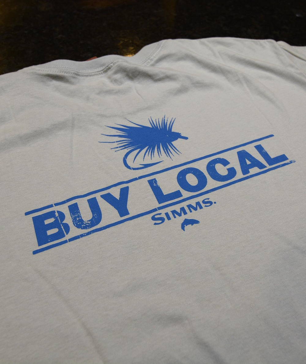 Bsrb buy local t shirt by simms fishing products big sky for Jawbone fishing shirts