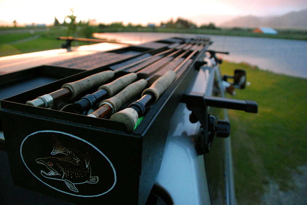 Big sky rod box for Roof rack fishing rod holder