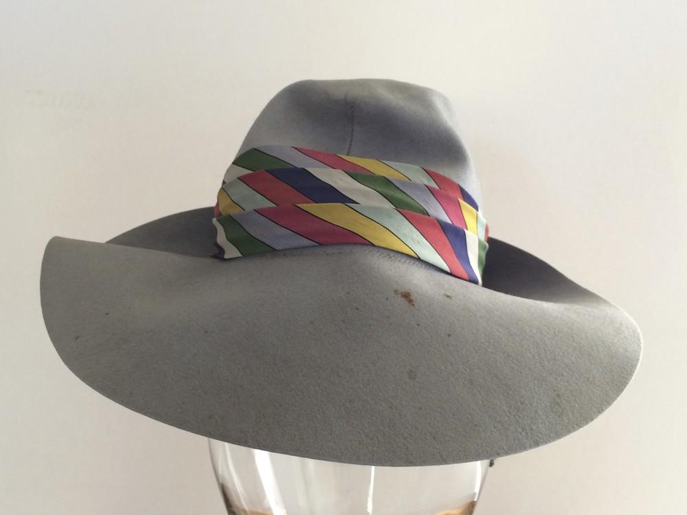 Doeskin Blue Wool Hat
