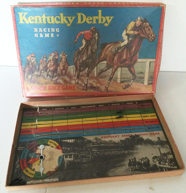 1938 Kentucy Derby Board Game