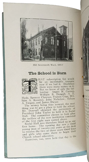 Old Seventeenth Ward 1895-7