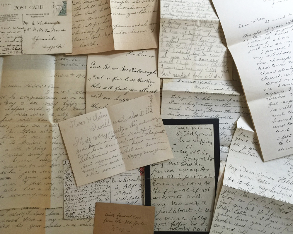 Letters from early 1900s.