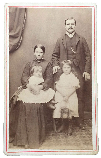 "Estimate 1882. ""Uncle Dan & Family"" Children are likely William & Jane."