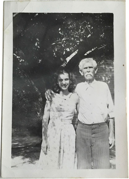 Robert Huebotter and Virginia Roberts circa late 1940s