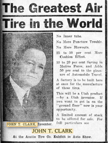 John T. Clark 1913 Salt Lake Tribune clipped on Newspapers.com
