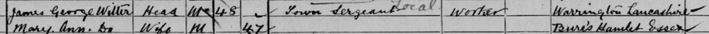 1901 Census James George Witter and Mary Ann Witter
