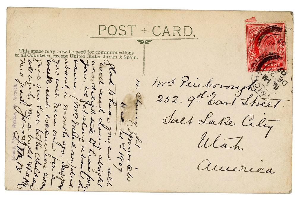 1907 Ipswich Postcard