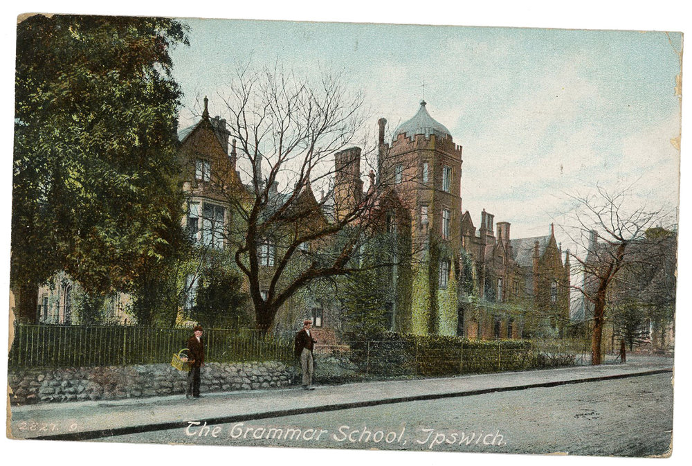 1908 Postcard The Grammar School Ipswich
