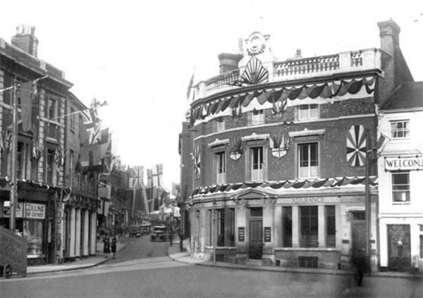 Entrance to Buttermarket Ipswich from the Princes Street end circa 1930s. Source: IpswichStar
