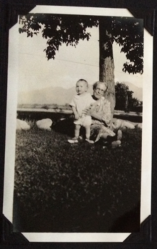 August 1931 - Mary Draisey Atkinson & Bobby