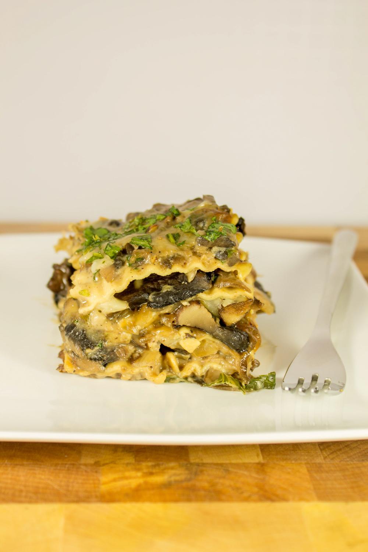 quadruple mushroom lasagna