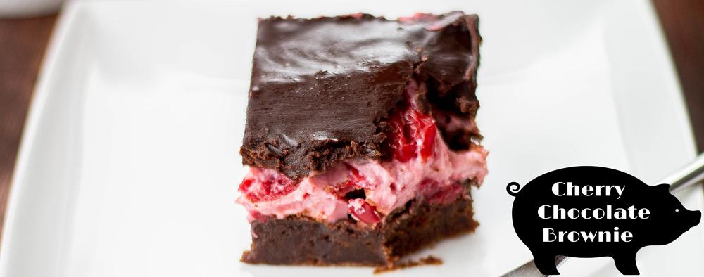 Cherry Chocolate Brownie with Chocolate Ganache — Bake, Braise ...