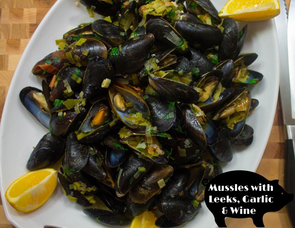 mussels leek white wine