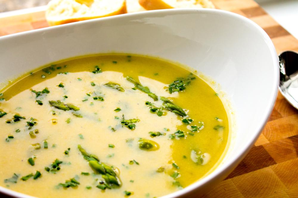 parmesan asparagus lemon soup