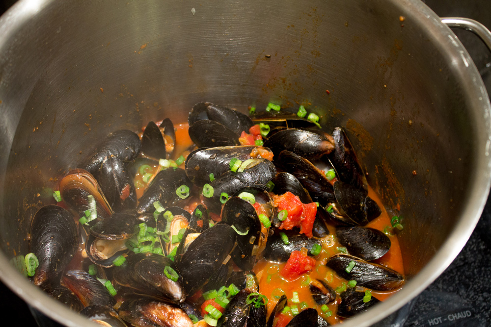 Mussels in Tomato Garlic Broth Blog