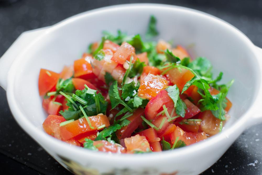 guacamole-black-bean-pasta-tomatoes
