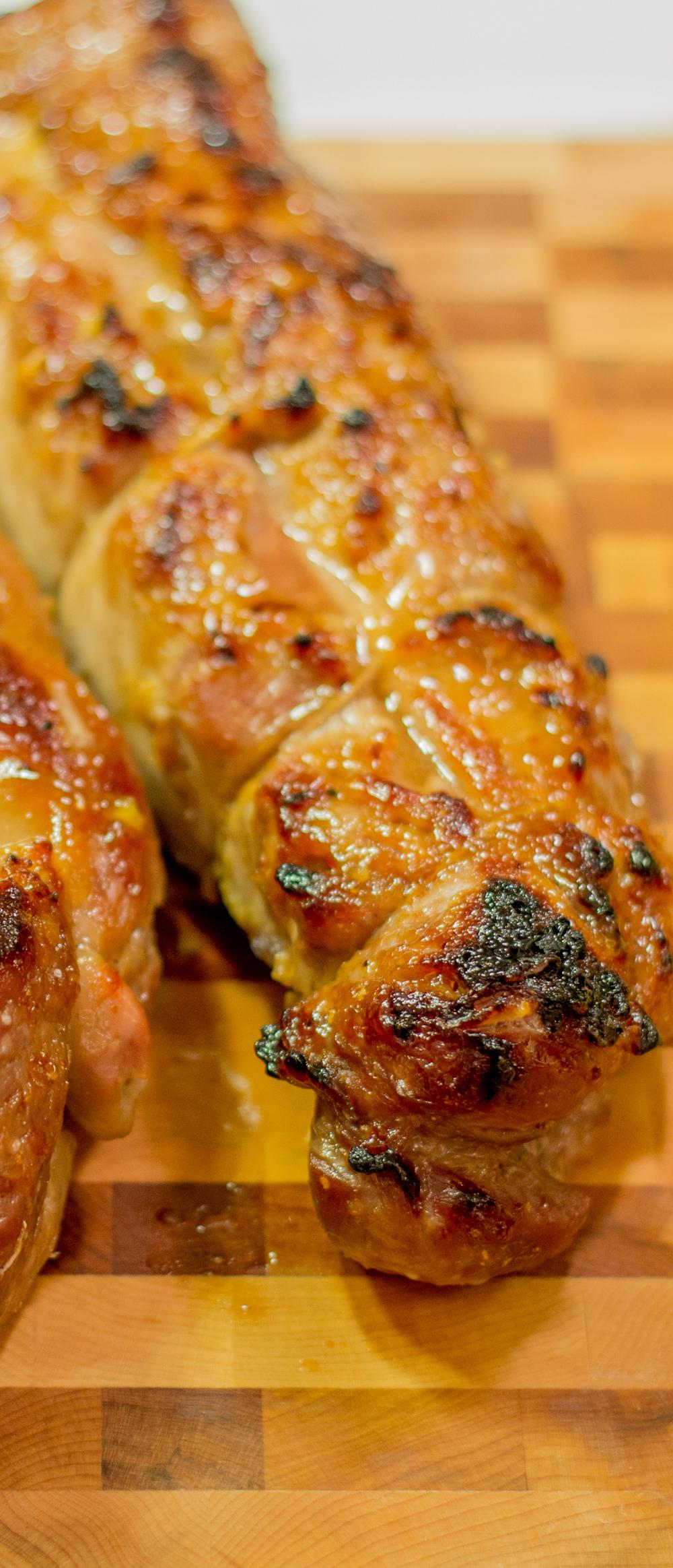 Maple, Garlic & Ginger Glazed Pork Tenderloin