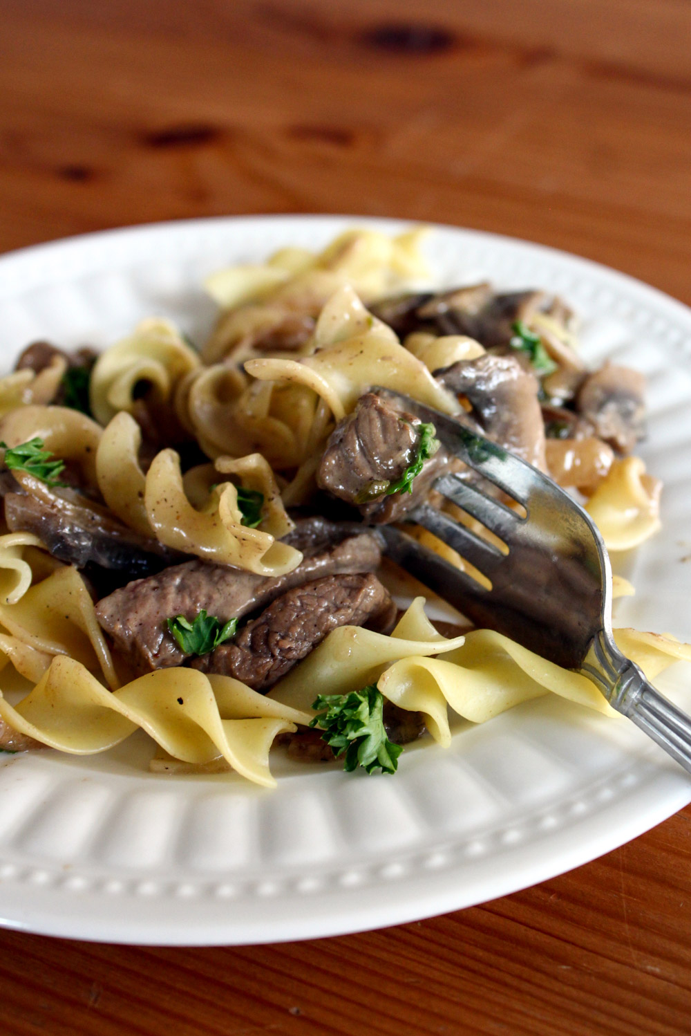 Beef Stroganoff with Homemade Sour Cream - Bake, Braise & Broil