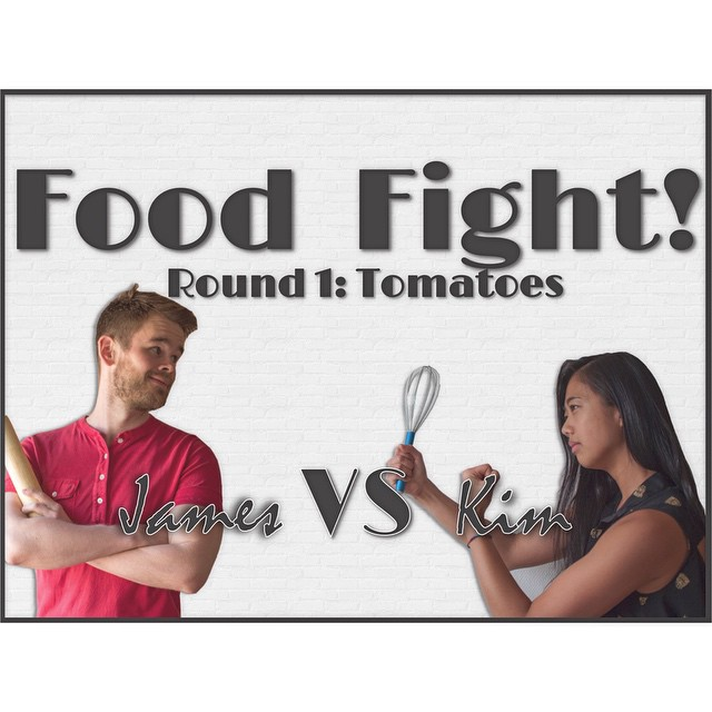 "New on bakebraiseandbroil.com, the ""Food Fight! Series"". Check back weekly as @kayjay_oh and @jamesede square off to create a recipe using a new ingredient every month. Vote to determine the victor! #foodfight!"