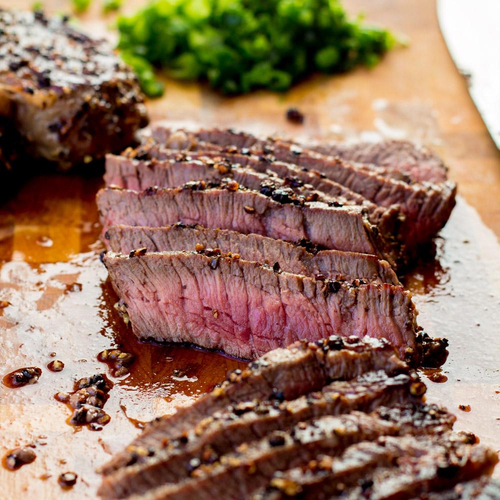 Steak au Poivre — Bake, Braise & Broil