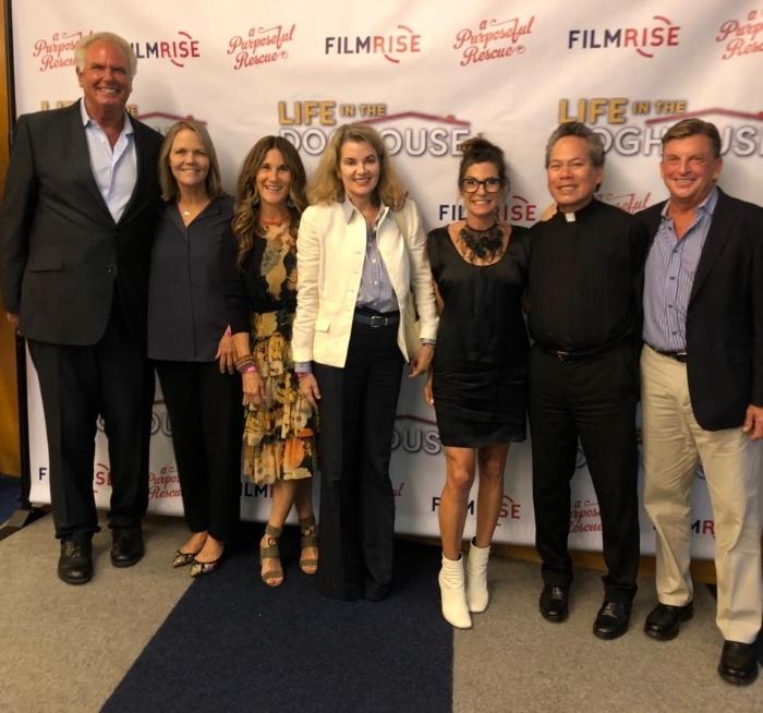 Left to right: Ron Danta, Cece Bloum, Susie Saladino, Georgia Spogli, Laurel Evans Smith, Michael Tang and Danny Robertshaw.
