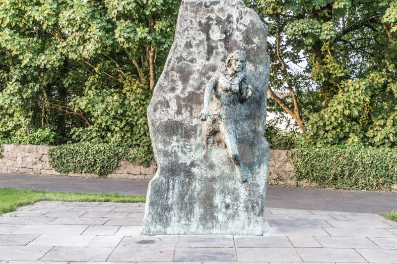 "Sculpture: EQUALITY EMERGING - THE PEOPLE by John Behan.  In Galway City, Ireland.  ""Equality Is But Difference – Respected and Celebrated."""