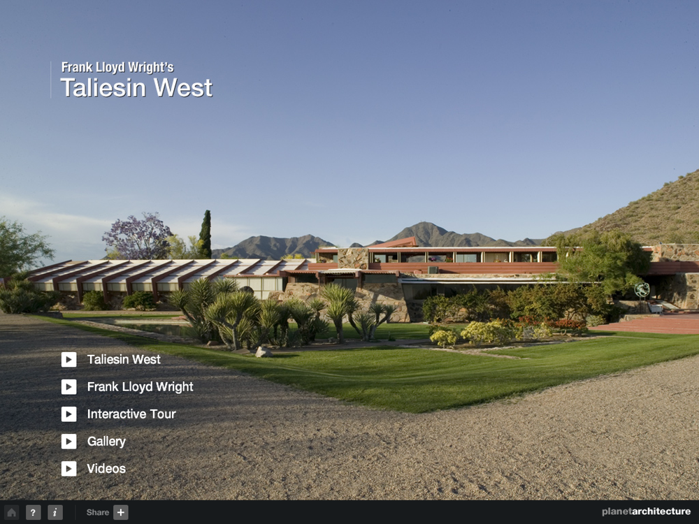 Frank Lloyd Wright's Taliesin West iPad App