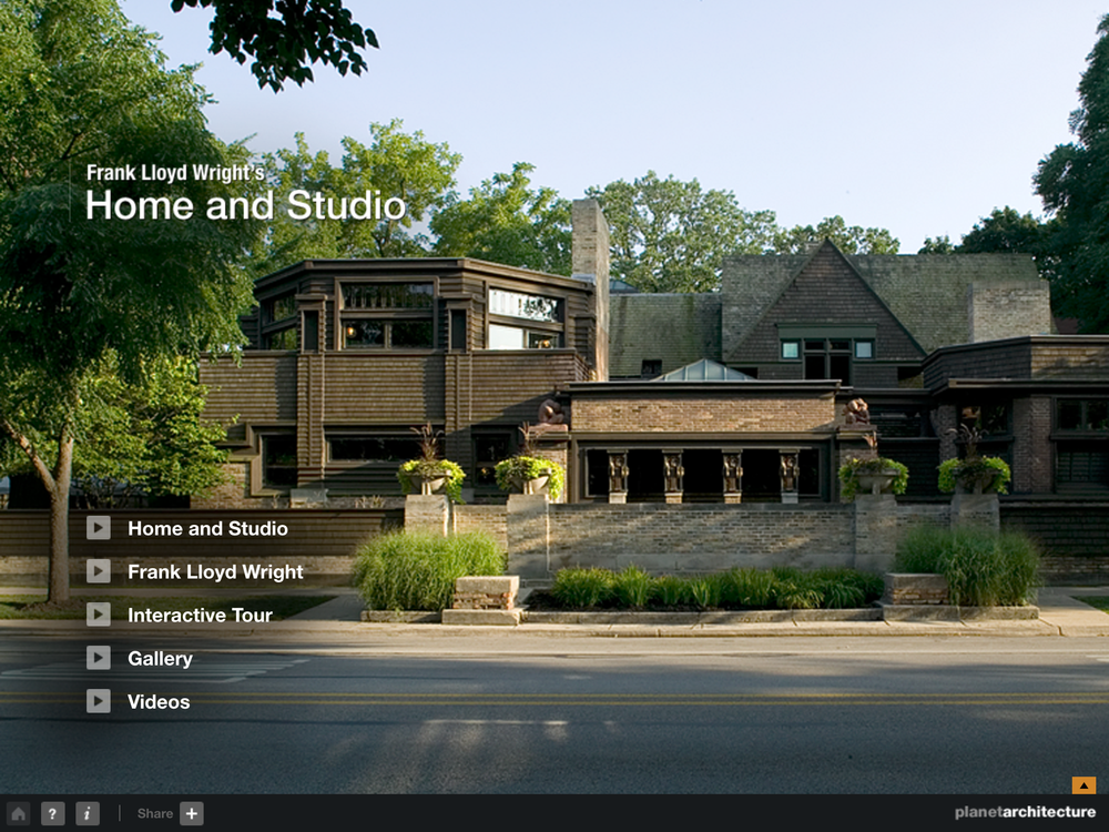 Frank Lloyd Wright's Home and Studio iPad App