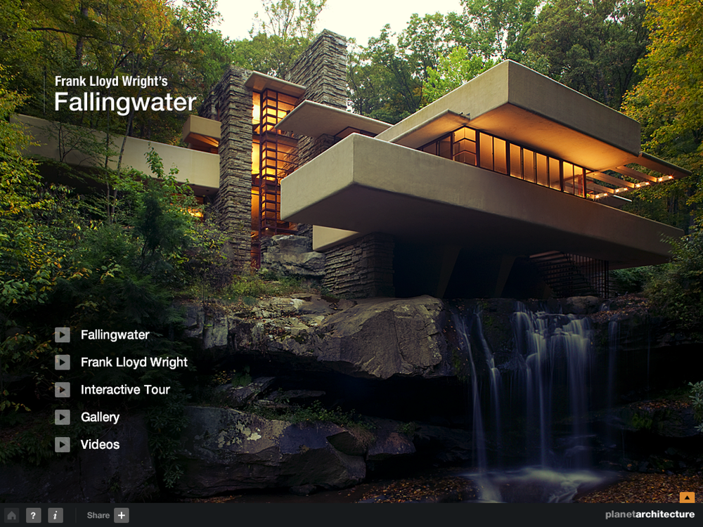 Frank Lloyd Wright's Fallingwater iPad App