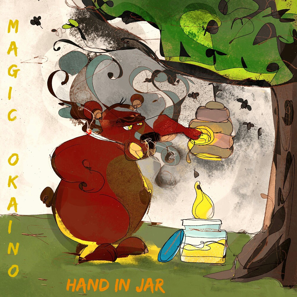 Cover Artwork for the Magic Okaino Single Hand In Jar.