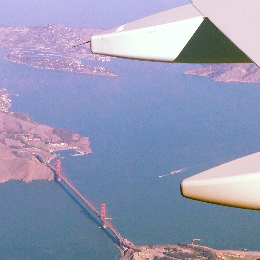 Golden Gate from the sky