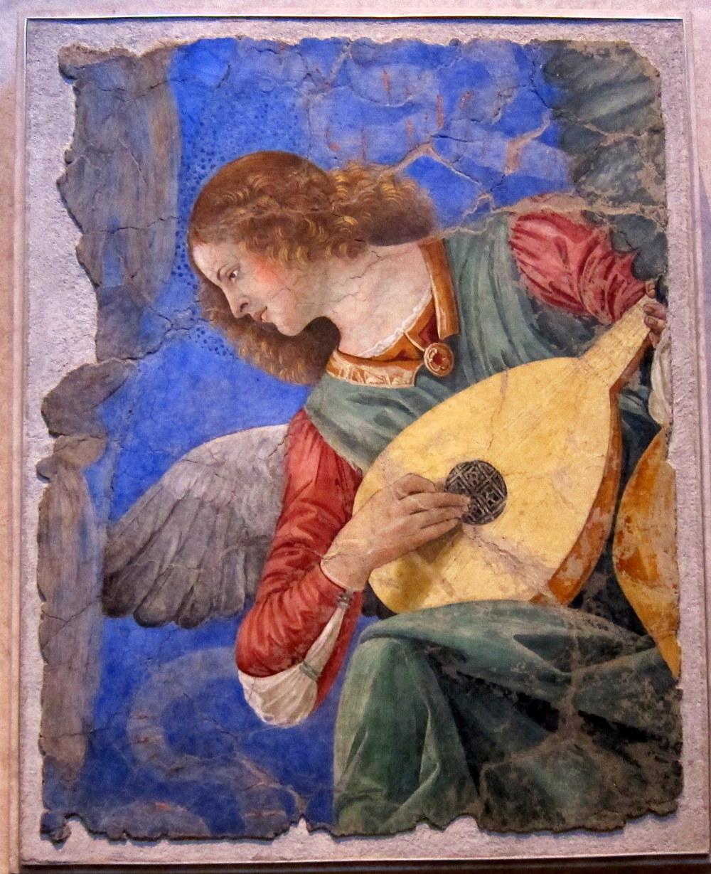 Melozzo da Forli, 1438-1494.   Italian fresco at the Vatican Museums, Pinacoteca.