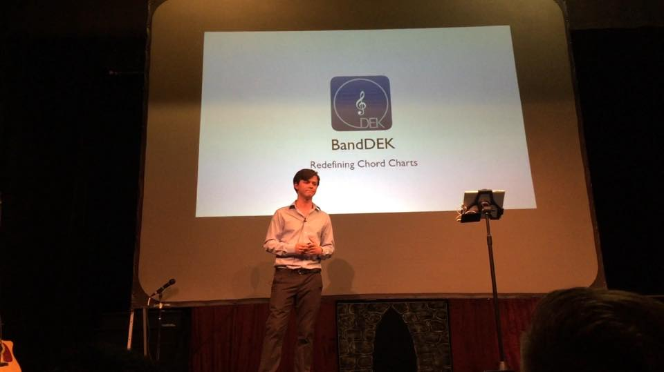 Weston Catron (BandDEK) at C.A.P.E pitch competition