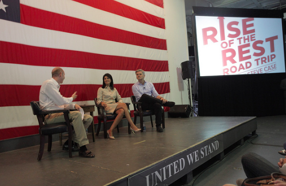 Steve Case and Governor Nikki interviewed by Patrick Bryant, Co-Founder of The Harbor.