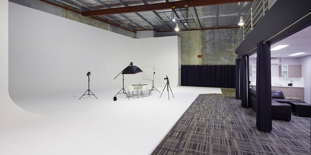 Photofinity Studio shoot on the white cyc infinity curve.