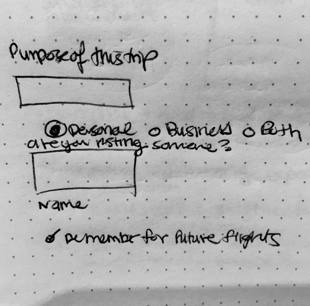 Purpose of trip - This sketch accounts for building contingencies when the data model doesn't pull the right location. Currently the data model adopts the location from the area code, but if someone keeps their area code from a different area, here's the ability to remember people's location for ease.