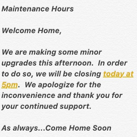 Thanks for understanding!  We are always working to be of better service to our guests.