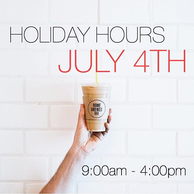 Come Home for the Fourth of July! Our holiday hours today are: 9am-4pm. Nothing like your favorite brew underneath the 💥💥💥! Be safe, be radiant - Happy 🇺🇸 Day!