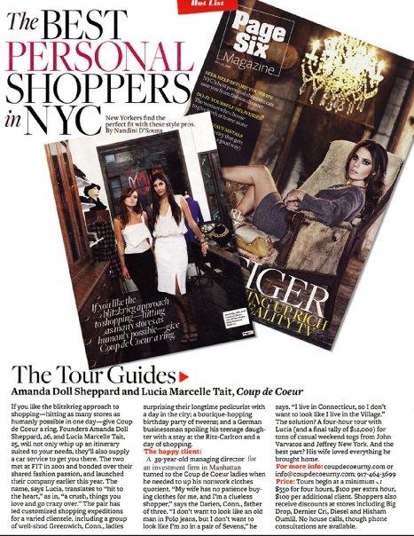 New York Post Page Six Magazine - October, 2011