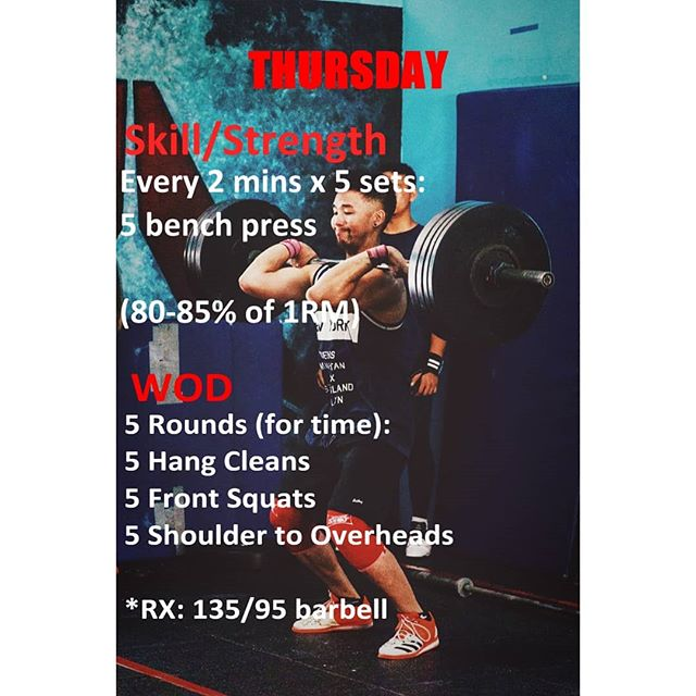 Beautiful workout ahead! See you guys at 5pm and 6pm! - - - ...and beautiful lift by our @crossfit673jerudong coach: @jonooi19