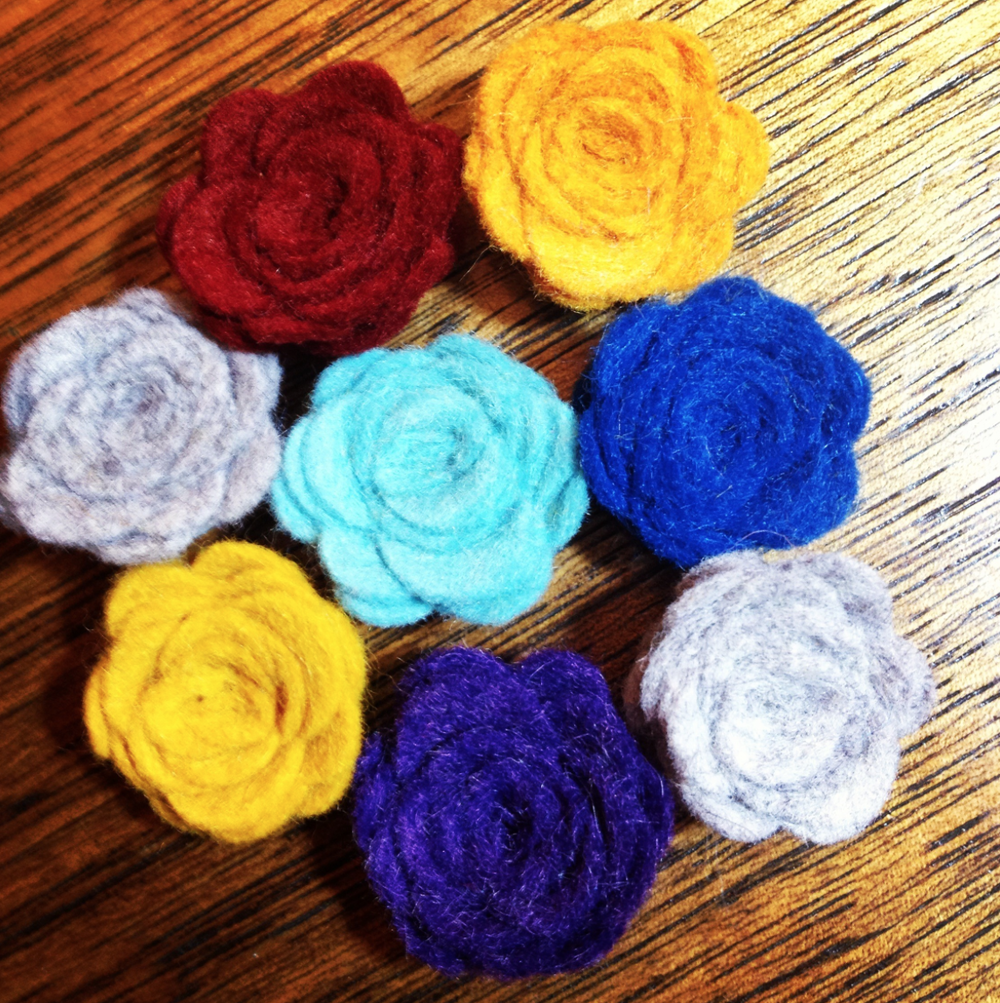 Felt Boutonnieres - for a touch of fun