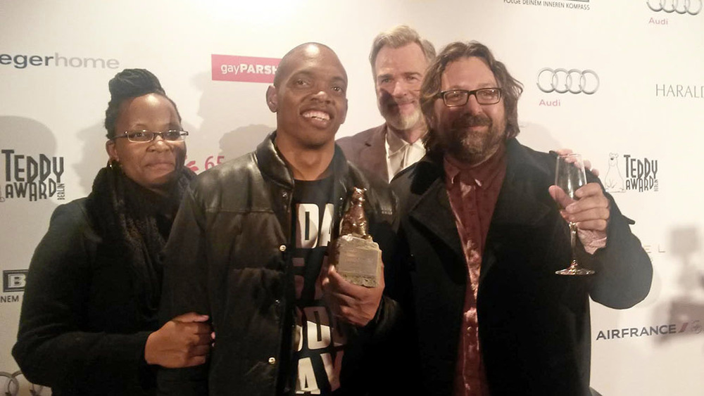 Njoki and Jim with Berlinale Panorama Curator Wieland Speck and Steven Markovitz.