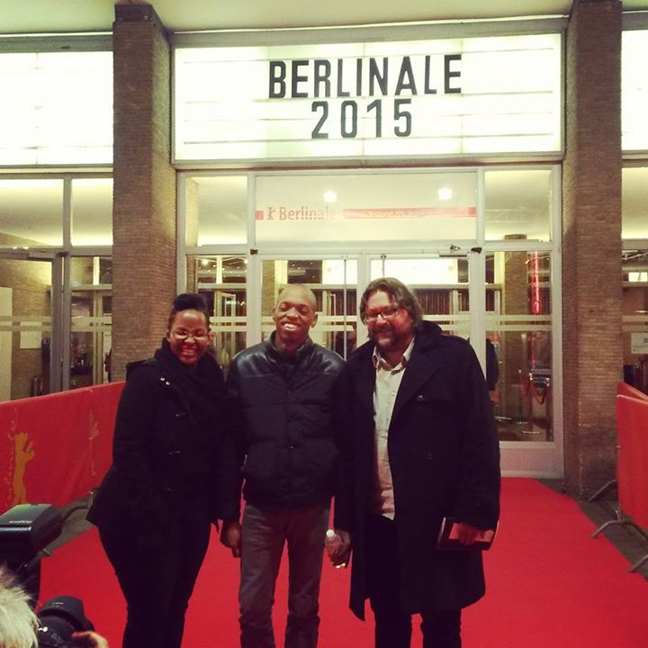 Njoki, Jim and Steven outside the beautiful Kino International where Stories of Our Lives had its premiere.