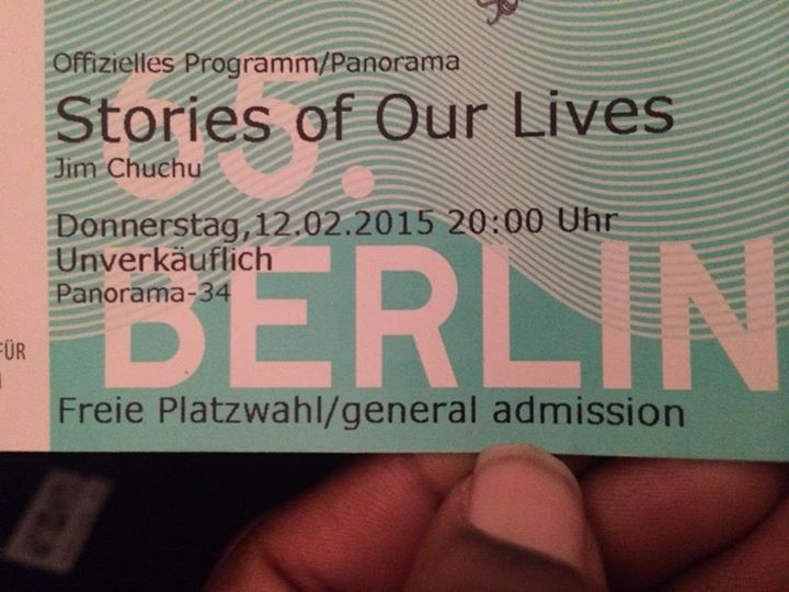 Tickets to the Stories of Our Lives screening.