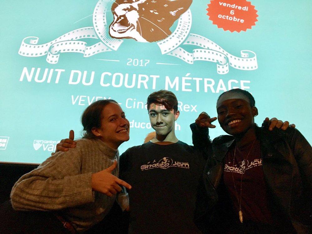2017-09-06 Nuit du Court Vevey Jury des jeunes Lea Zac Agathe.JPG