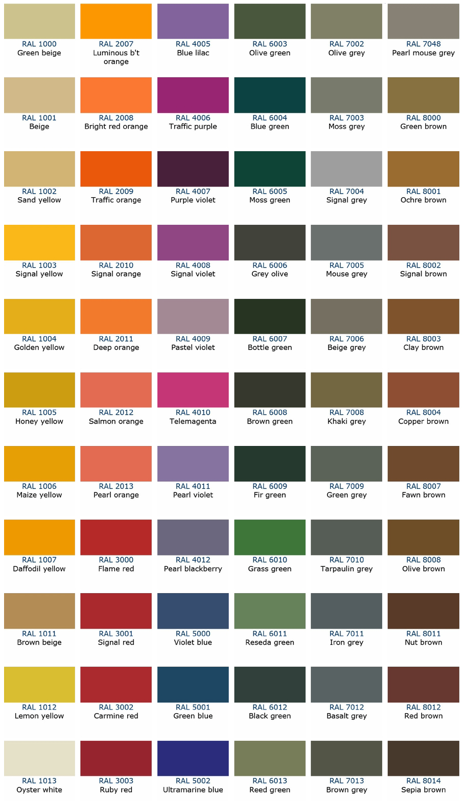 Jotun Exterior Paint Colour Chart