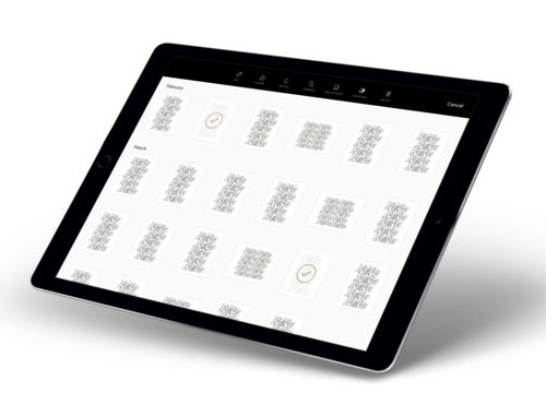 iPad archive screen