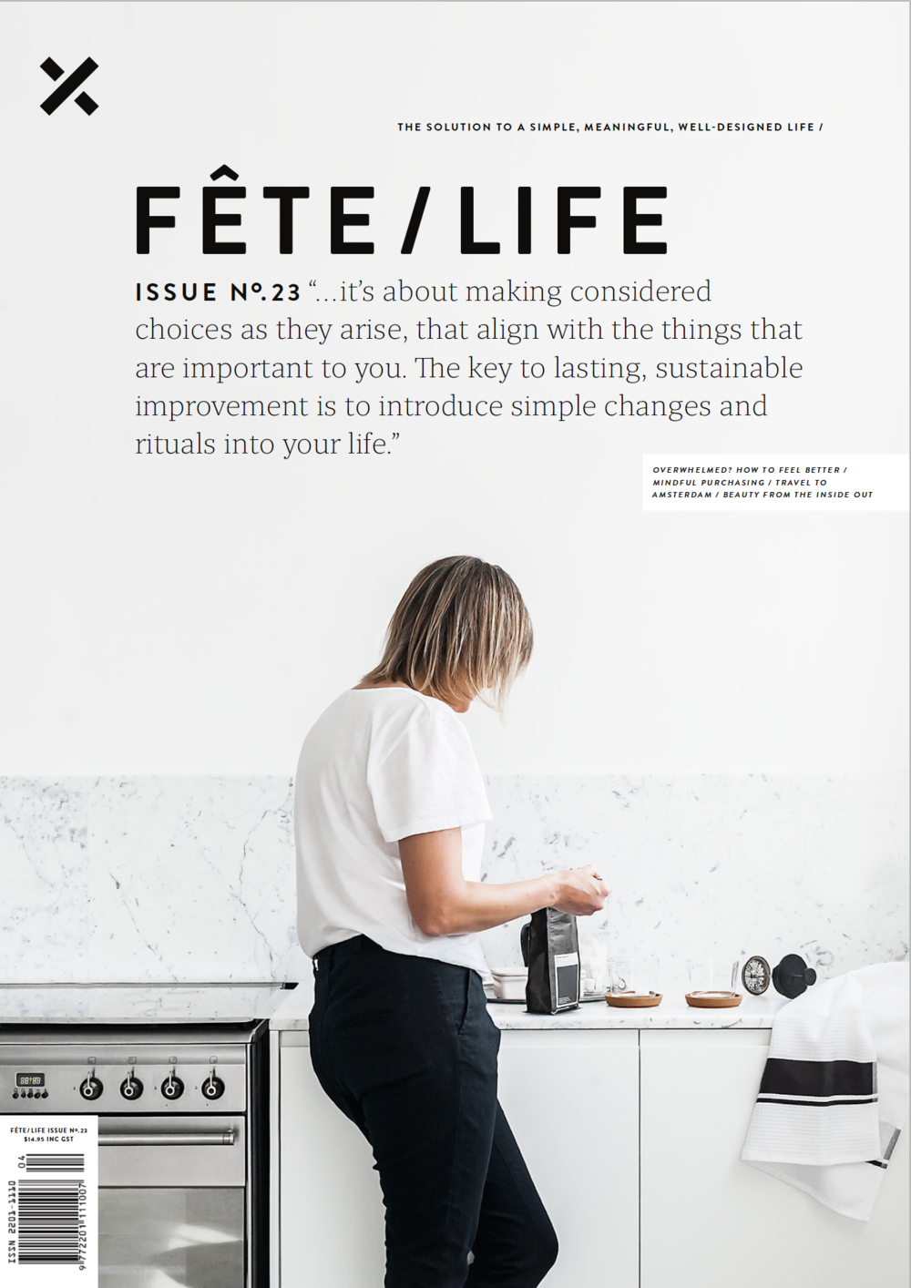 Fête Magazine issue 23 - Designer Man Cave Potts Point apartment. Styling by Corina Koch