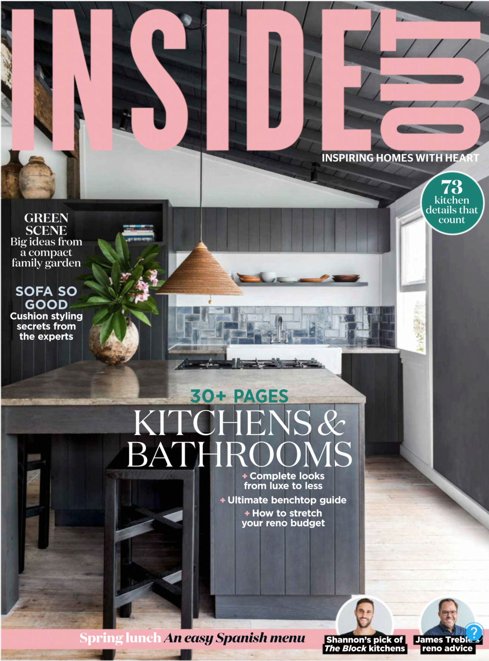 Inside Out Oct 2018 - Northern Beaches home by Kate Manning Design. Styling by Jason Mowen Cover and spread