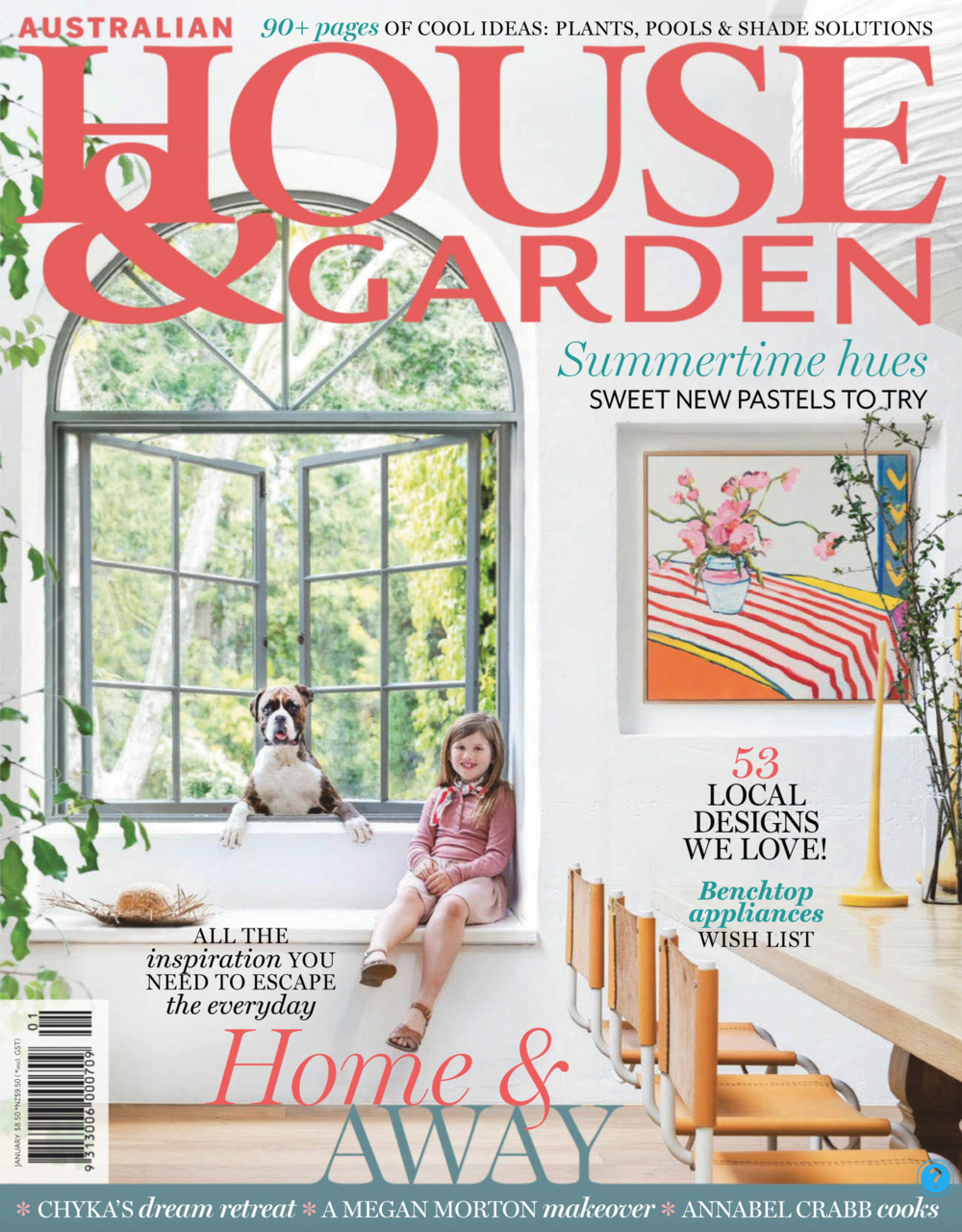 House and Garden Jan 2019 - Berlach Home. Styling by Megan Morton Cover and spreads